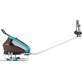 Croozer Click & Ski , musta/hopea